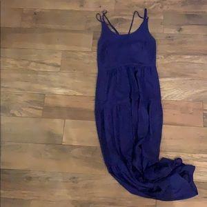 Navy Blue LOFT maxi dress